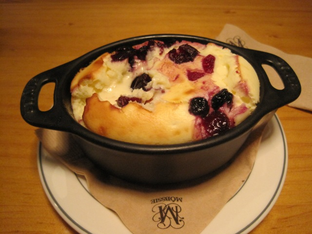 The hot cheesecake with fruit is what Jesus should have had for dessert at the last supper.