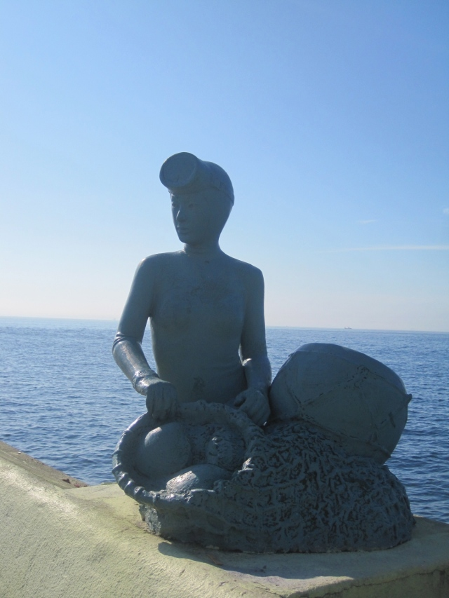 A statue paying respects to the Haenyo, Jeju female divers. Unfortunately, a dying profession.