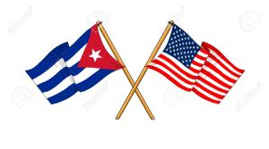 12166748-cartoon-like-drawings-of-flags-showing-friendship-between-Cuba-and-USA-Stock-Photo